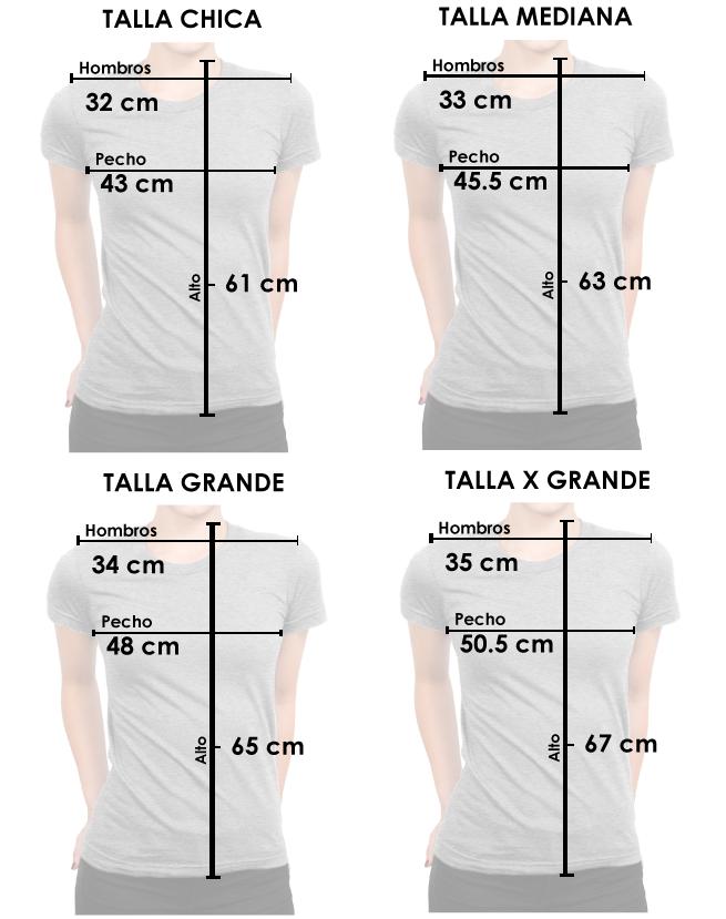 Medidas tallas mujer